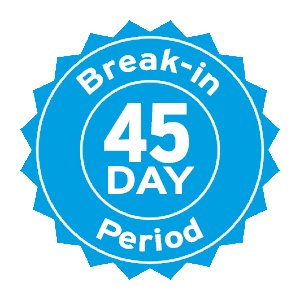 45 day break-in period
